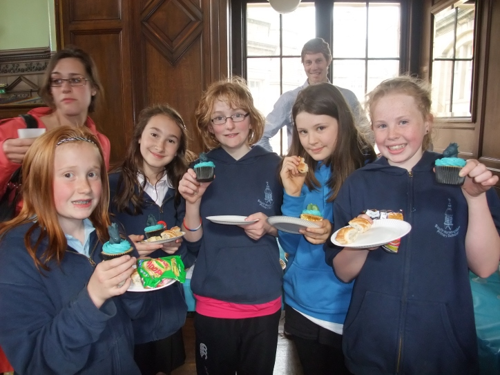 Kids enjoy Kelpie cupcakes at the launch